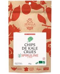 Chips de Kale Spiruline-Tahini BIO