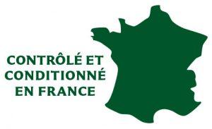 logo contrôlés et conditionnés en France